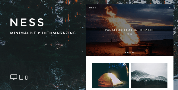 Ness - Minimalist Photo Magazine WordPress Theme - Personal Blog / Magazine