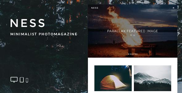 Ness - Minimalist Photo Magazine WordPress Theme - Personal Blog / Magazine