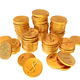 Stacks of gold dollar coins - PhotoDune Item for Sale