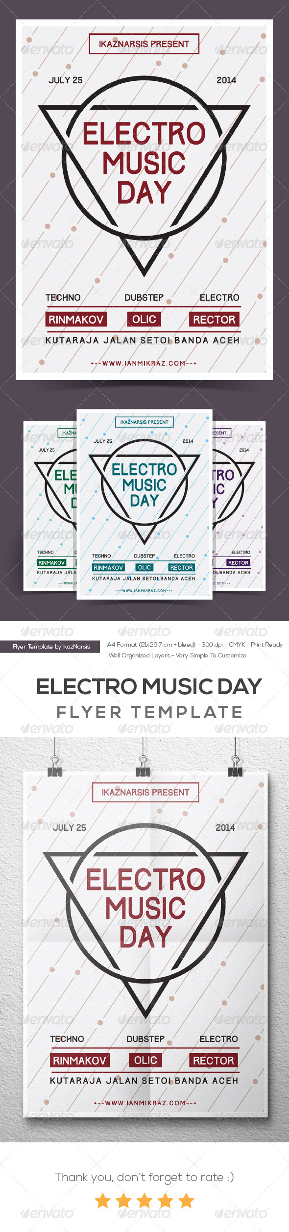 GraphicRiver Electro Music Day Flyer Poster 8242697