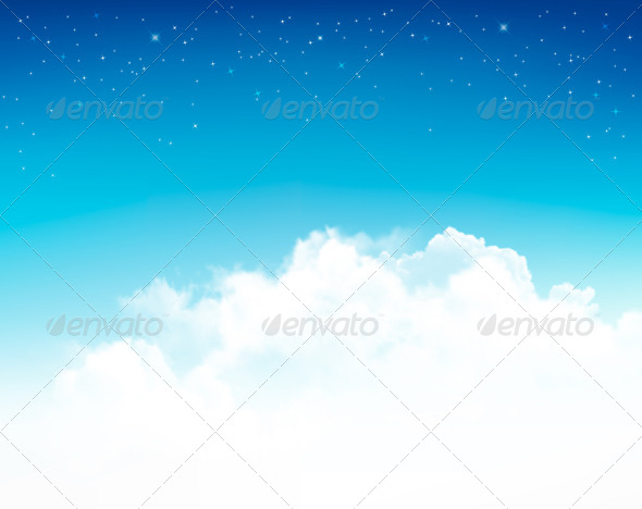 GraphicRiver Background with Stars in the Night Sky 8242715