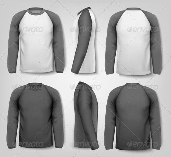 GraphicRiver Black and White Long Sleeved Shirts 8242723