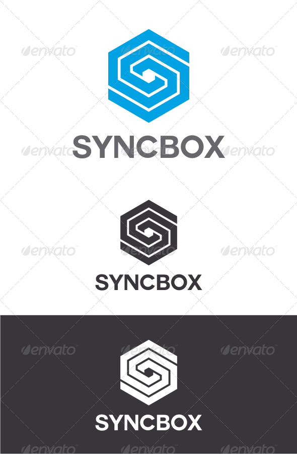 GraphicRiver Sync Box Letter S Logo 8241117