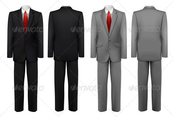 GraphicRiver Set of Black and Grey Suits 8242811