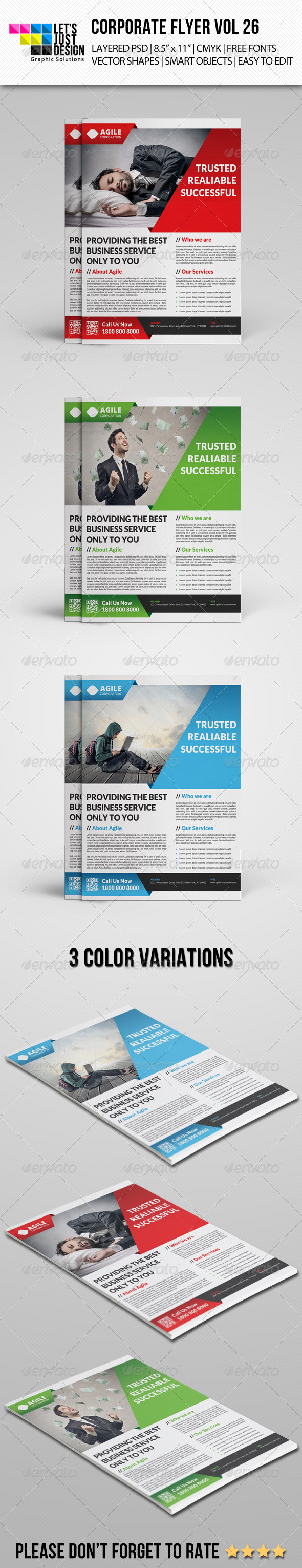GraphicRiver Corporate Flyer Template Vol 26 8242814