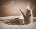 Coffee cup with old pot. - PhotoDune Item for Sale