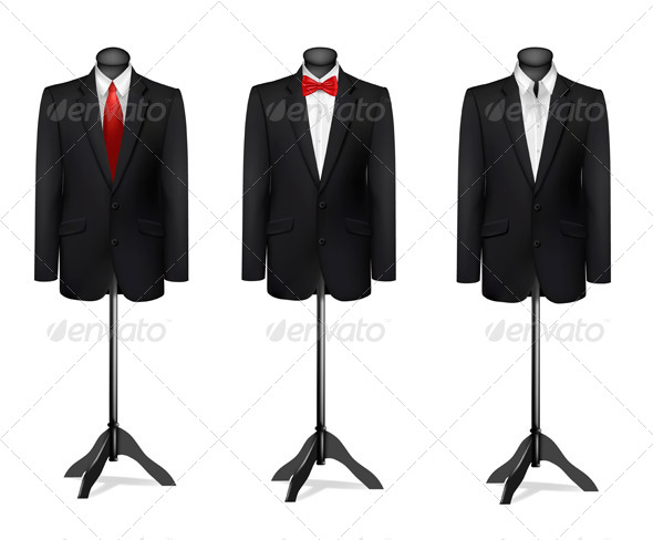 GraphicRiver Three Different Suits on Mannequins 8242839