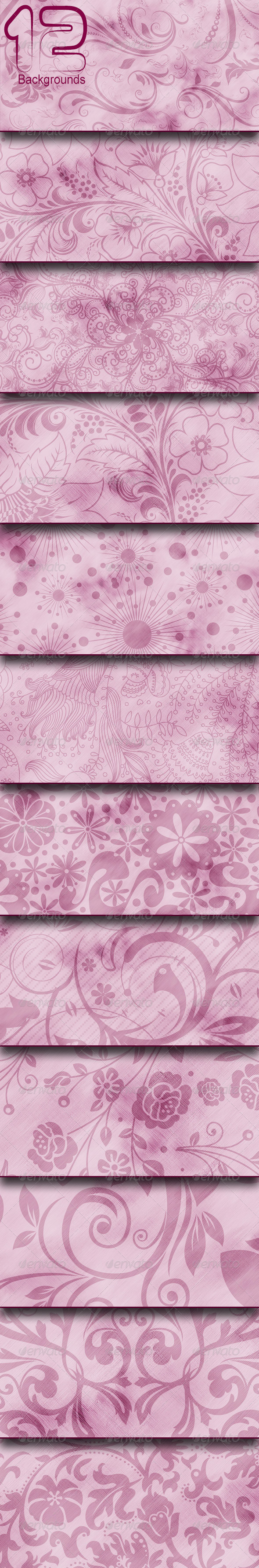 GraphicRiver Flowers Backgrounds 8242866