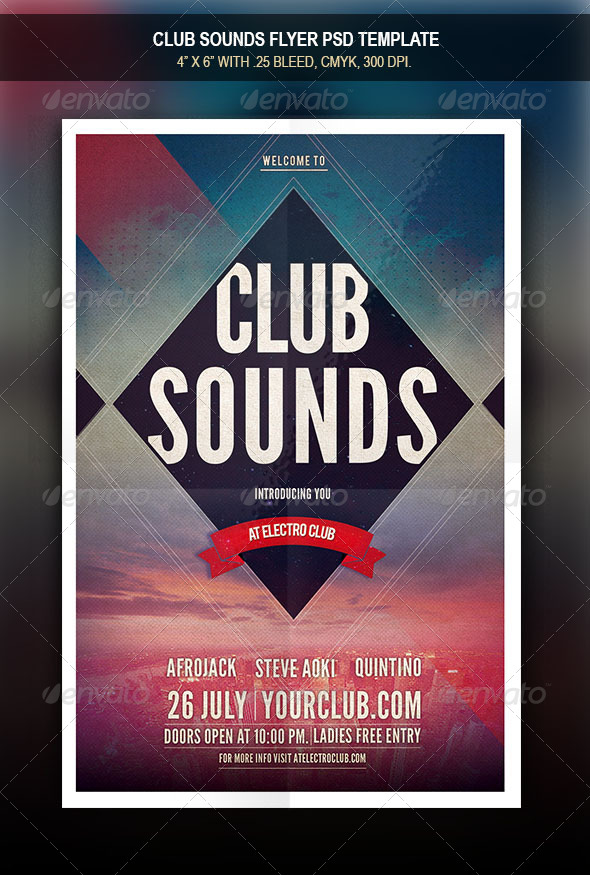 GraphicRiver Club Sounds Flyer 8242881