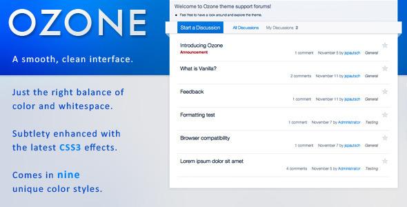 ThemeForest OZONE Premium Vanilla 2 Theme 796129