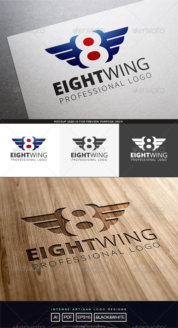 GraphicRiver Eight Wing Logo Template 8243119