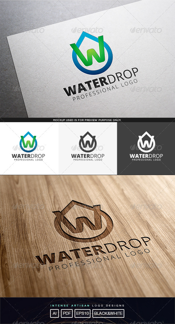 GraphicRiver Water Drop Logo Template 8243128