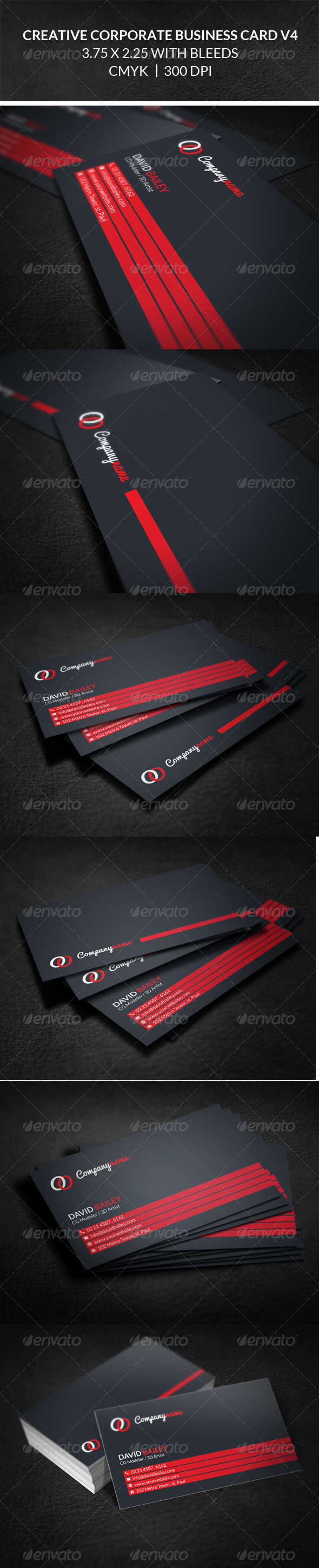 GraphicRiver Creative Corporate Business Card V4 8243157