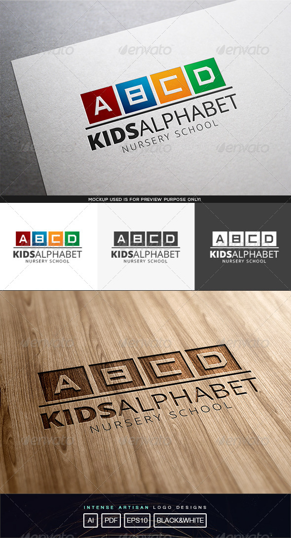 GraphicRiver Kids Alphabet Logo Template 8243167