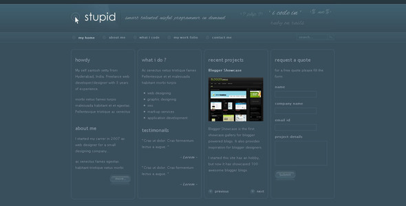 ThemeForest Stupid 35115