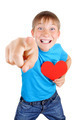 Kid holds Red Heart Shape - PhotoDune Item for Sale