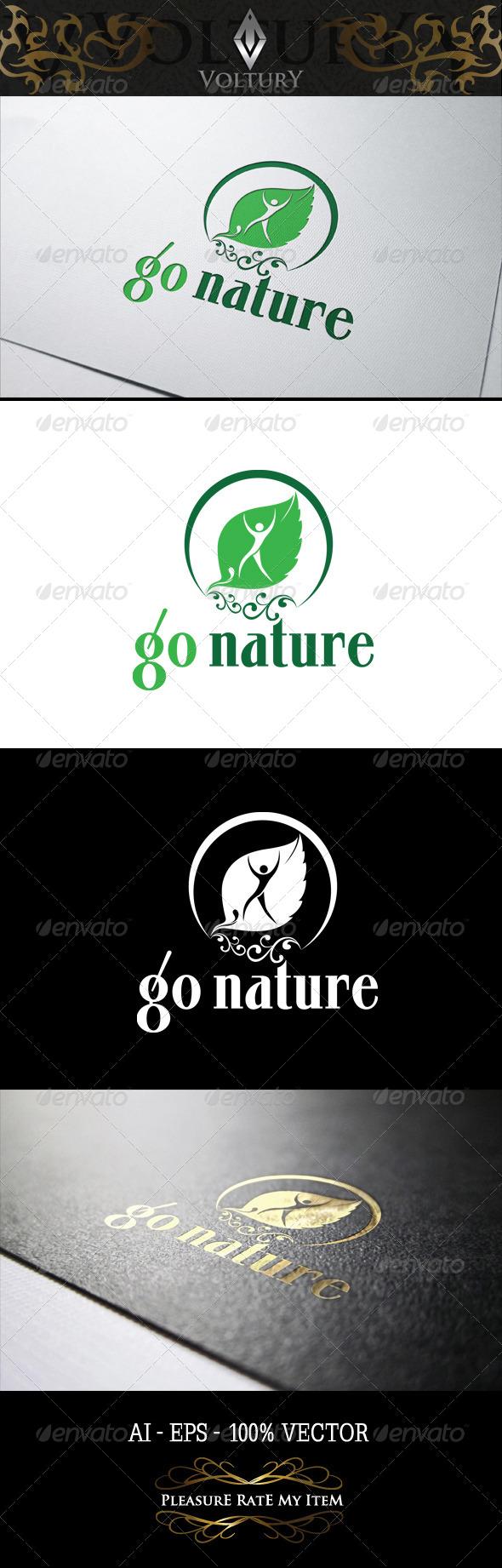 GraphicRiver Go Nature Logo 8243295