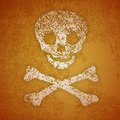 Illustration - skull and crossbones on a wall - PhotoDune Item for Sale