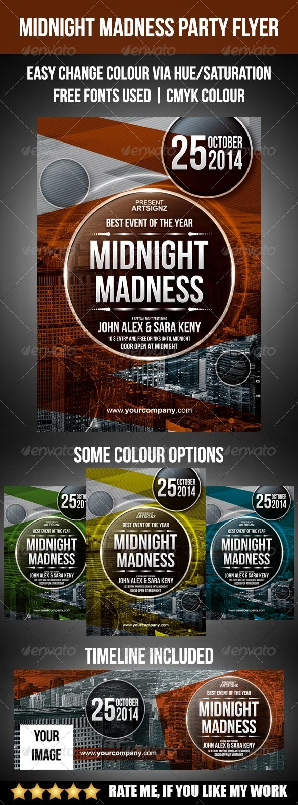 GraphicRiver Midnight Madness Party Flyer 8240247