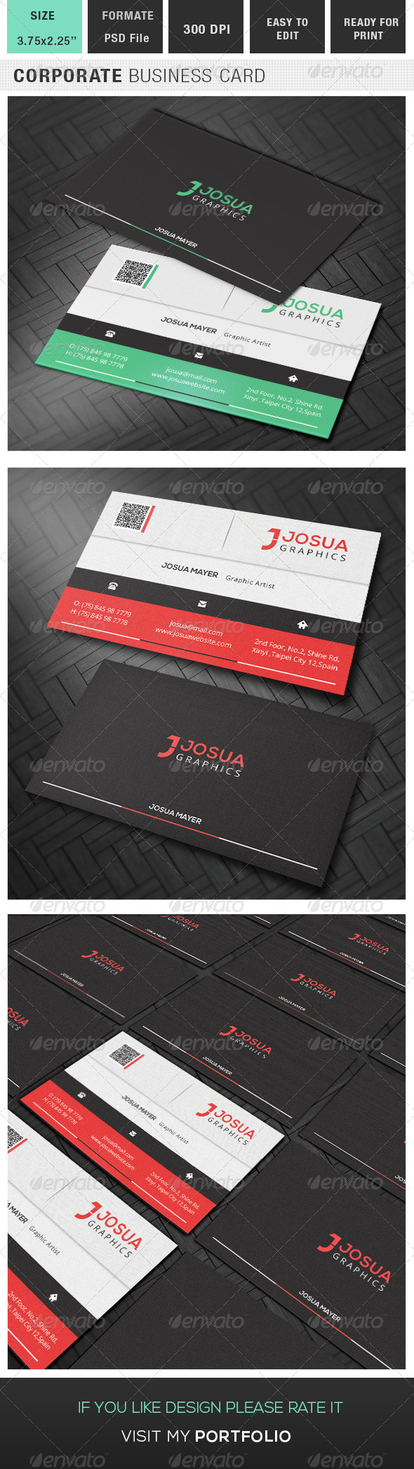 GraphicRiver Corporate Business Card 8238974