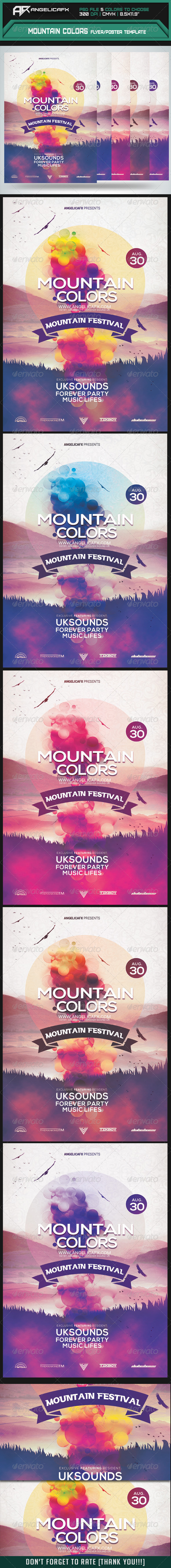 GraphicRiver Mountain Colors Flyer Poster Template 8244994