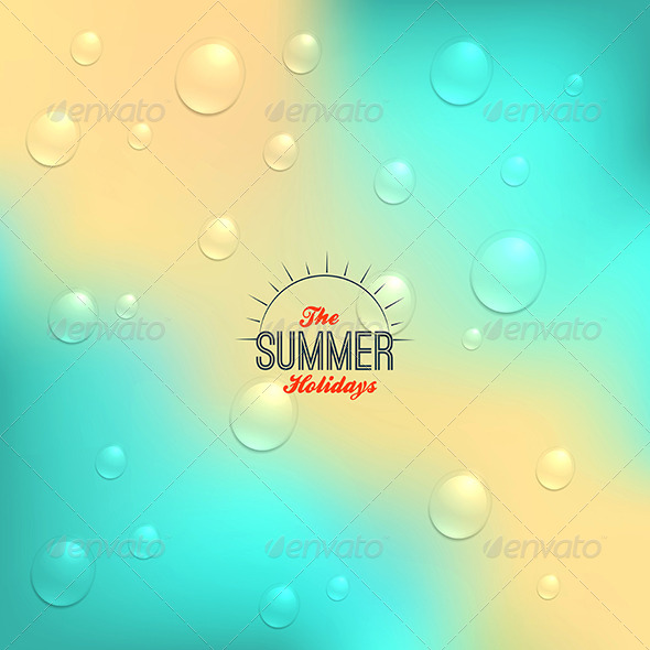 GraphicRiver Summer Background in Retro Style 8245123