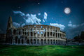 The Colosseum in Rome. Night view - PhotoDune Item for Sale