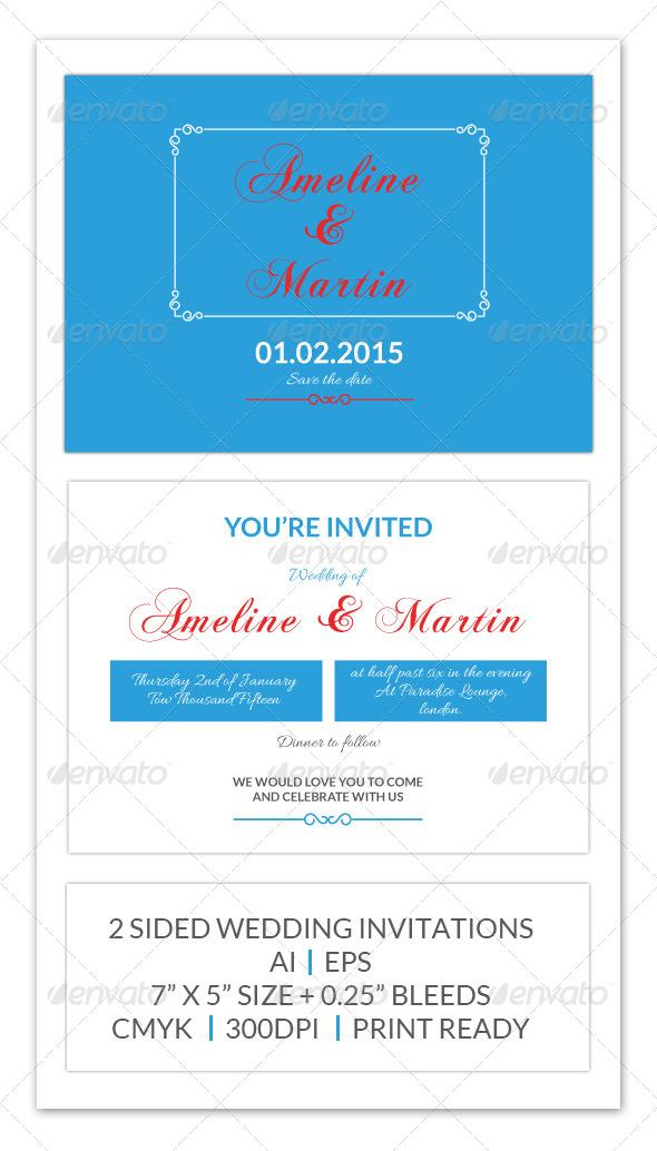 GraphicRiver Wedding Invitation 8245499