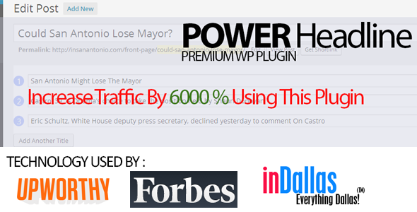 CodeCanyon Power Headline Headline Split Testing 8231504