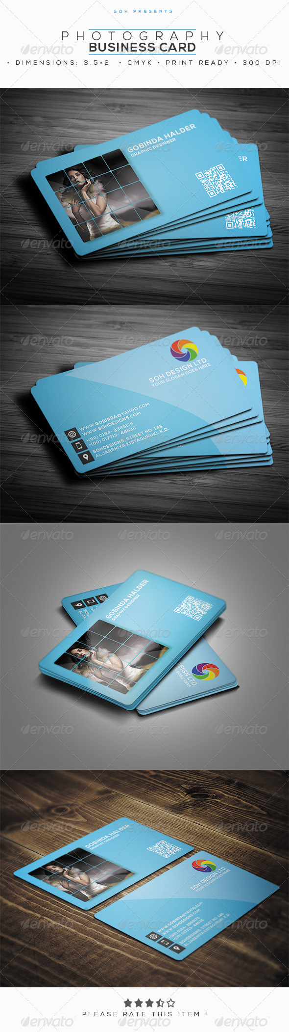 GraphicRiver Photography Business Card Template 8245525