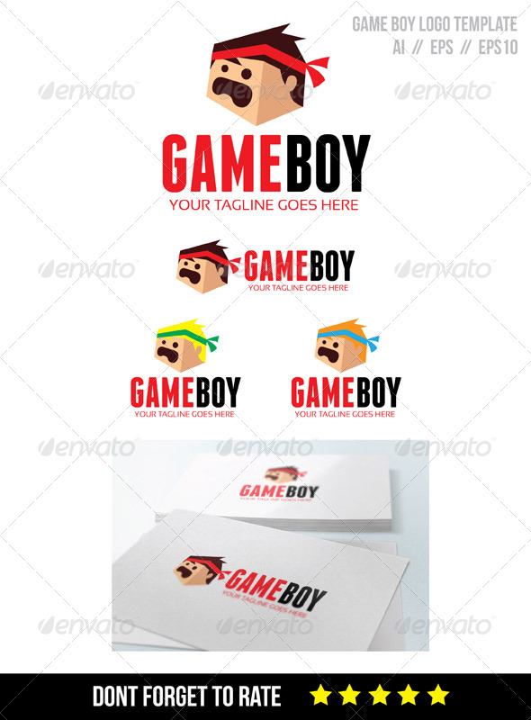 GraphicRiver Game Boy Logo Template 8245526