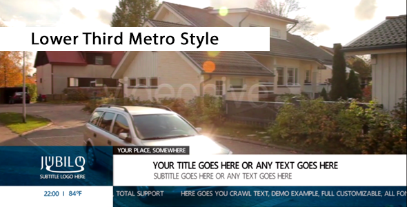 Lower Third Metro Style