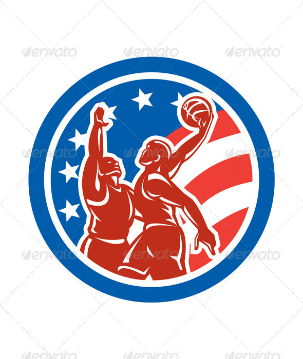GraphicRiver American Basketball Circle 8245542