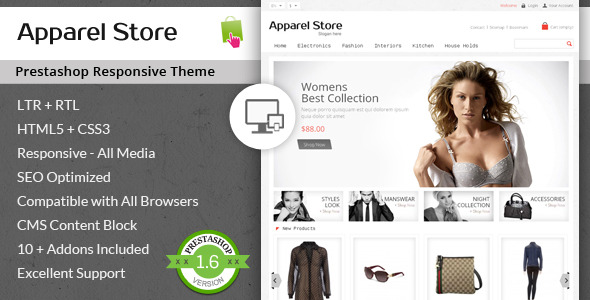 Apparel Store - Responsive Prestashop Theme