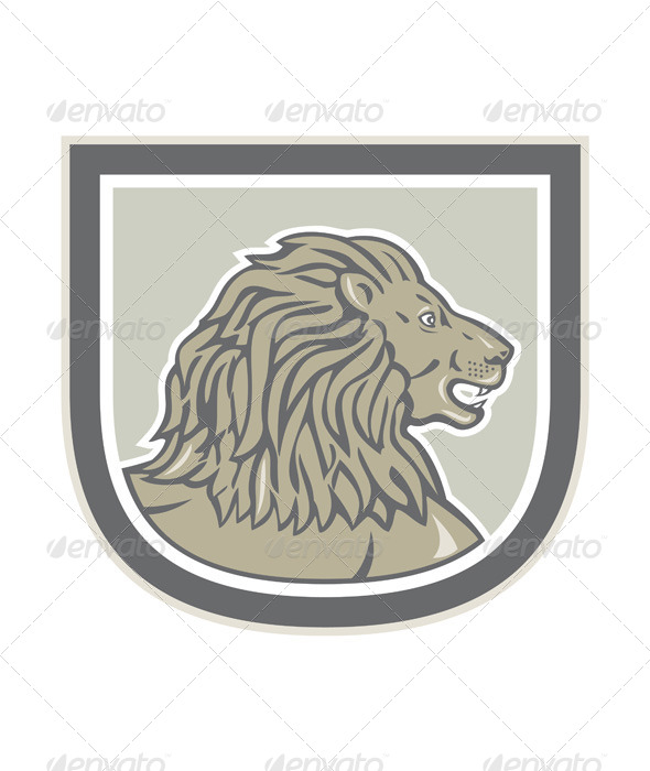 GraphicRiver Lion Head Shield 8245582