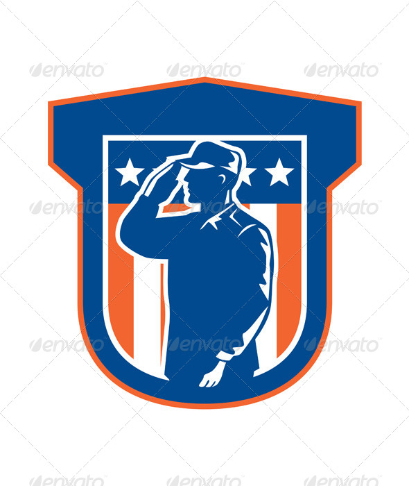 GraphicRiver American Miilitary Serviceman Salute Side Crest 8245584