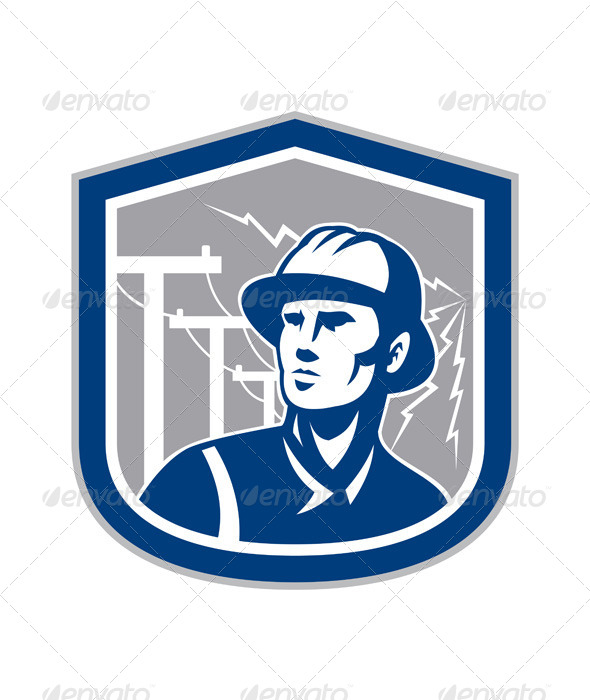 GraphicRiver Power Lineman Shield 8245589