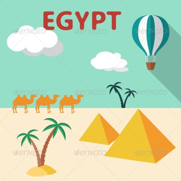 Egypt Travel Flat Design