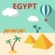 Egypt Travel Flat Design - GraphicRiver Item for Sale