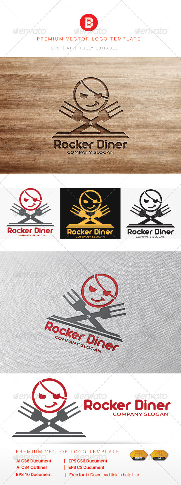GraphicRiver Rocker Diner 8245593