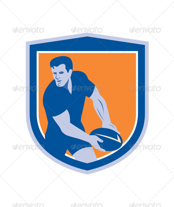 GraphicRiver Rugby Player Shield 8245599
