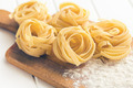 Italian pasta tagliatelle and flour - PhotoDune Item for Sale