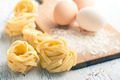 Italian pasta tagliatelle, eggs and flour - PhotoDune Item for Sale