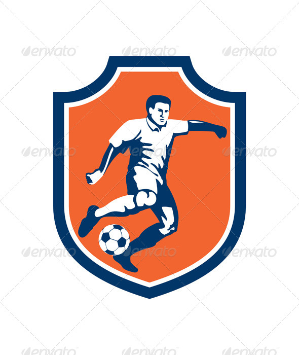 GraphicRiver Soccer Player Shield 8245644