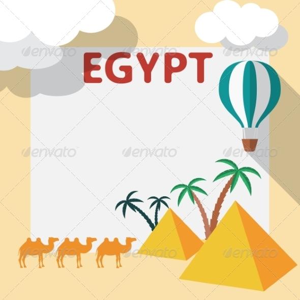 Egypt Travel Flat Design