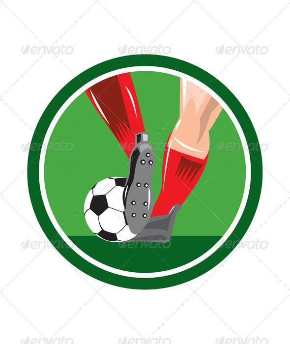 GraphicRiver Foot Kicking Soccer Ball Circle 8245646