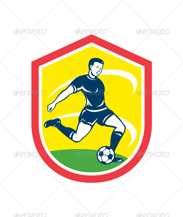 GraphicRiver Soccer Player Shield 8245652