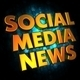 Social Media News - Gold 3D Words. - PhotoDune Item for Sale