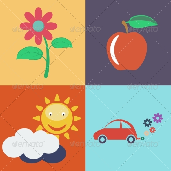 Vector Flat Eco Icons