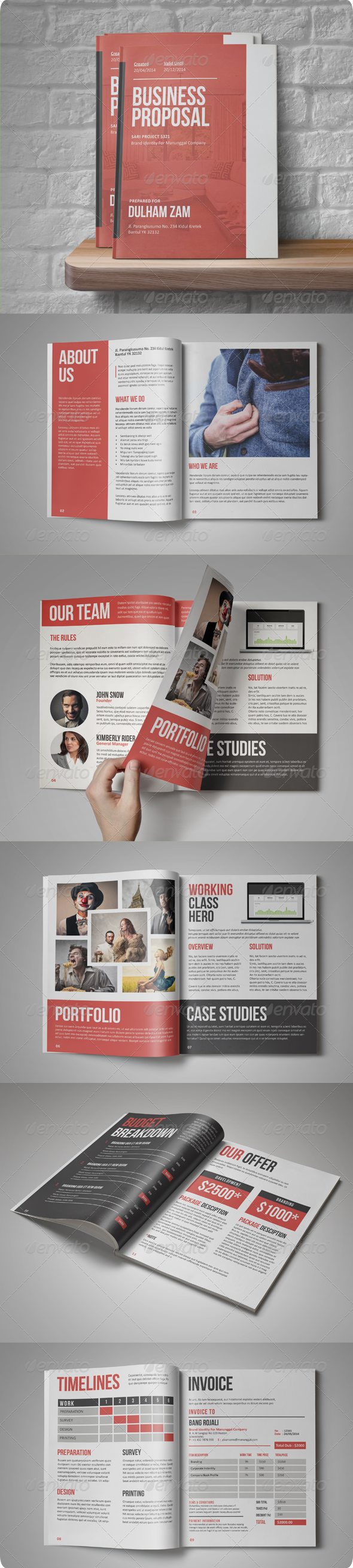 GraphicRiver Sari Business Proposal 8245714